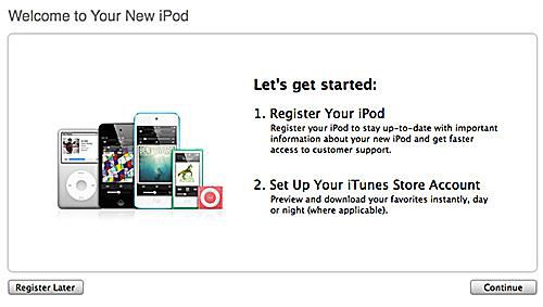 sync ipod touch, step 1