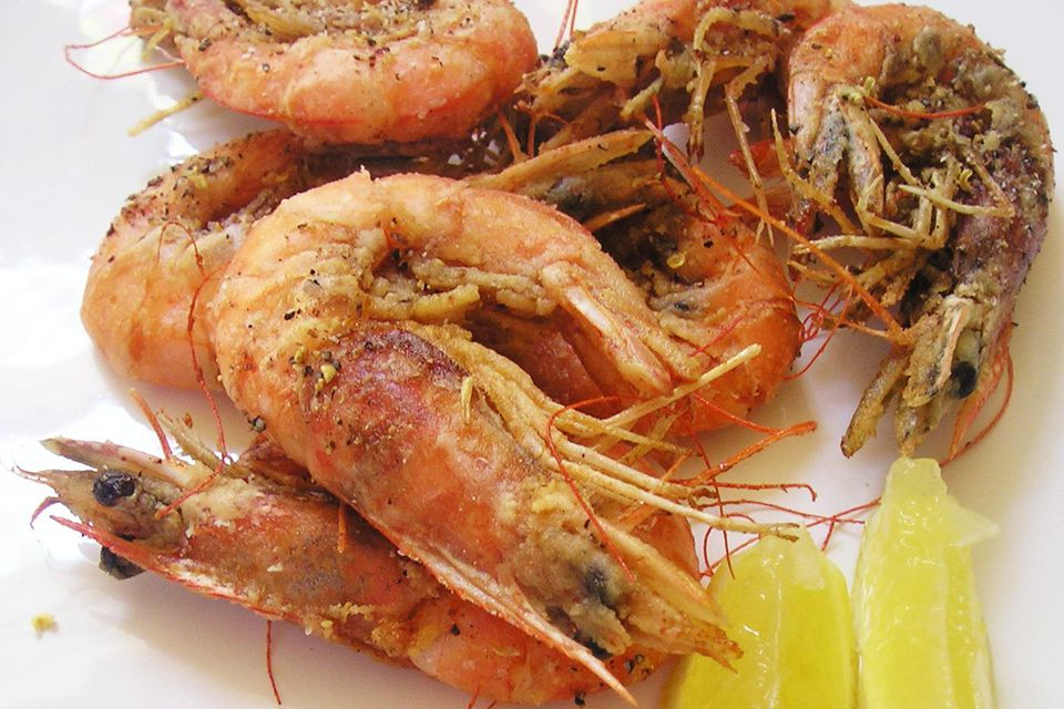 Salt and Pepper Style Fried Whole Shrimp