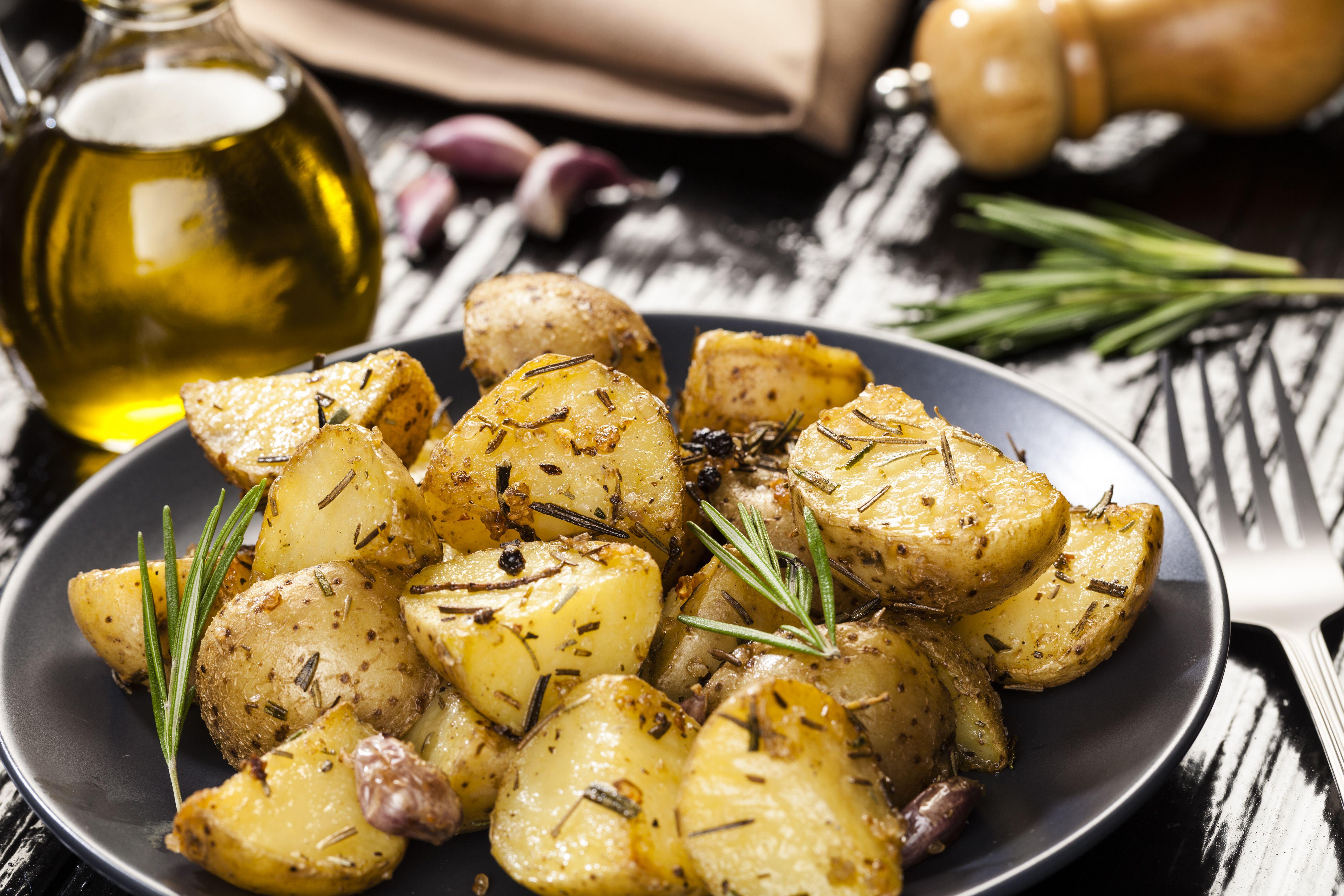 Oven Roasted Rosemary Potatoes Vegan Gluten Free Recipe