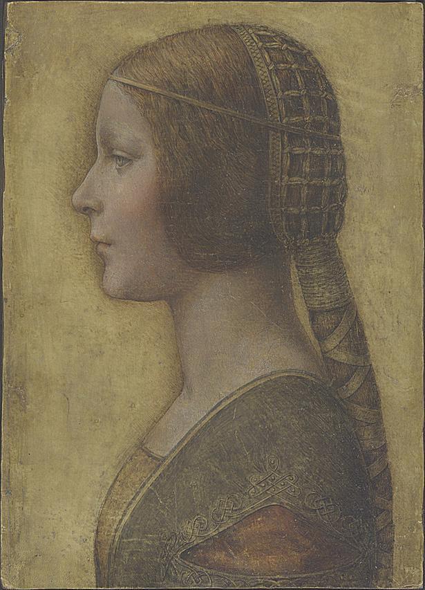 La Bella Principessa, attributed to Leonardo da Vinci