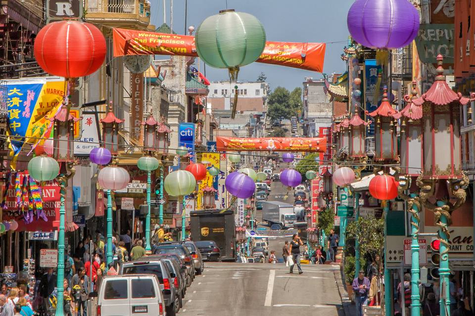 Street Scene in San Francisco's Chinatown