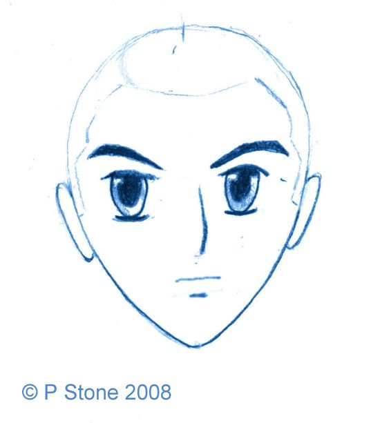 Draw a manga face with these easy steps make the hairline ccuart Image collections