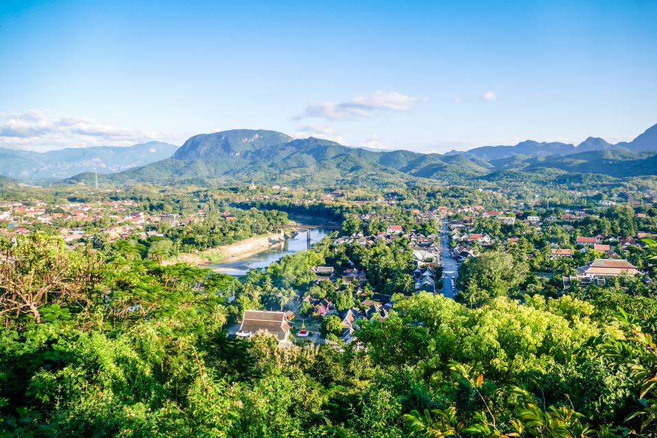 View of the Luang Prabang Sky line City Scape