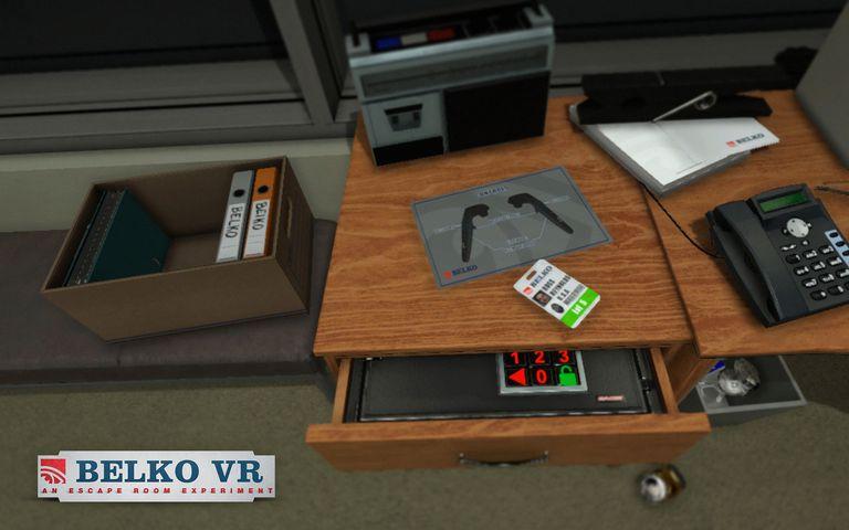 Screenshot from Belko VR Game