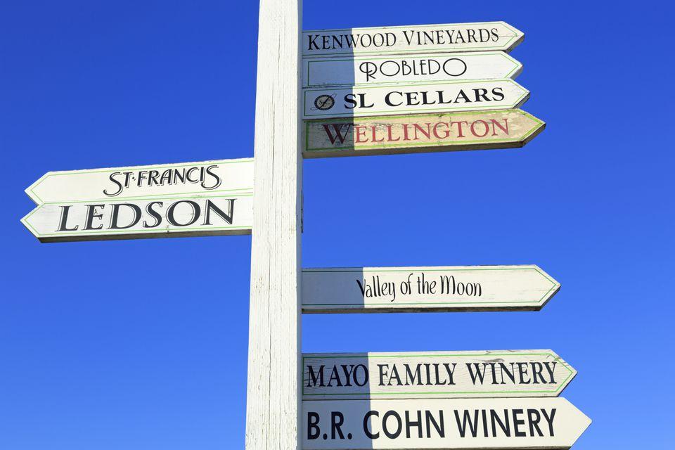 Vineyard Signs in Sonoma Valley