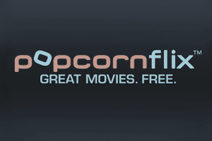 Screenshot of the Popcornflix logo