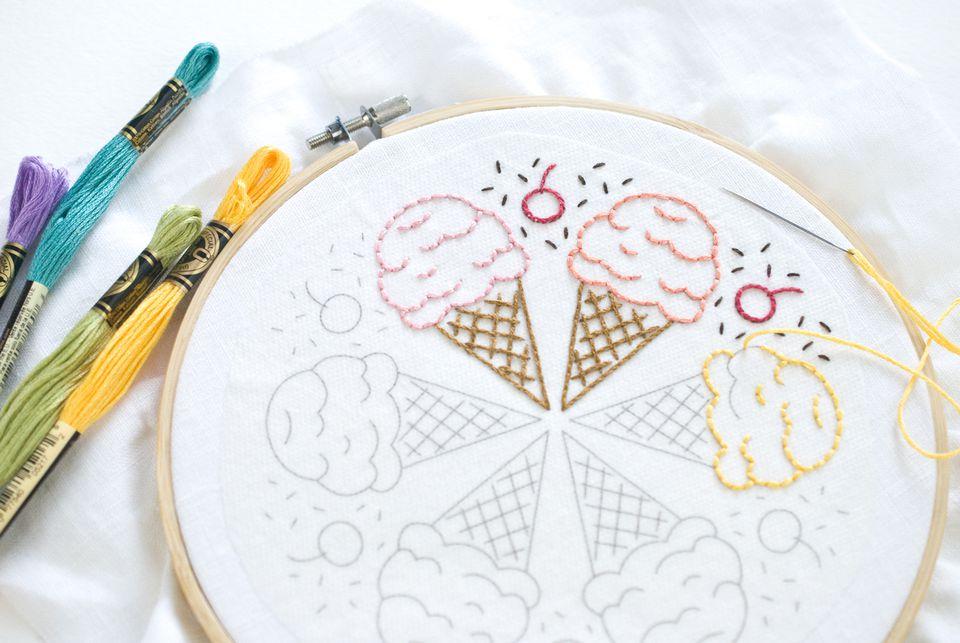 Stitching the Ice Cream Mandala