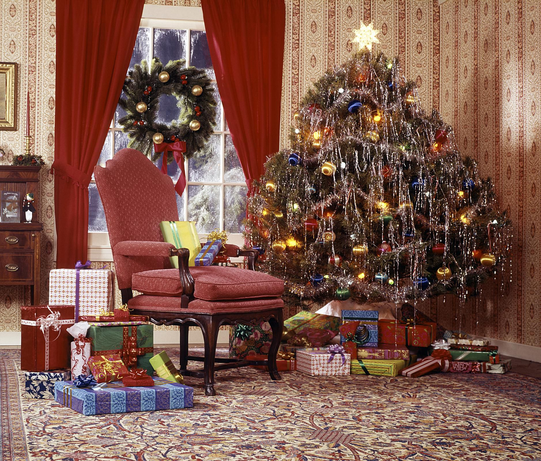 christmas tree in living room - German Christmas Tree