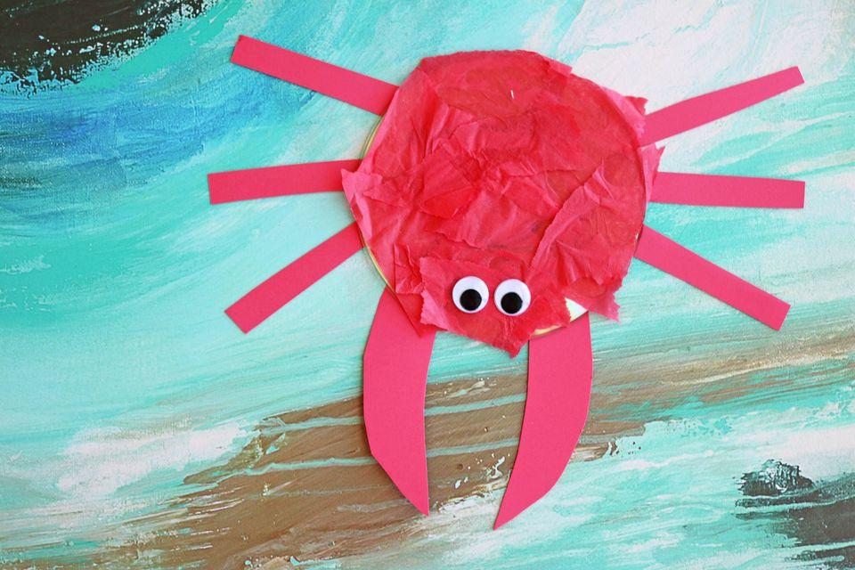 DIY: Recycled CD Crab Craft