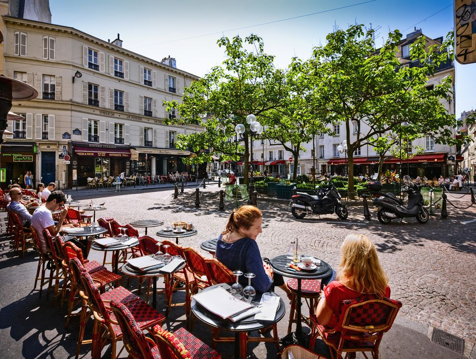 Pavement Cafe in Paris