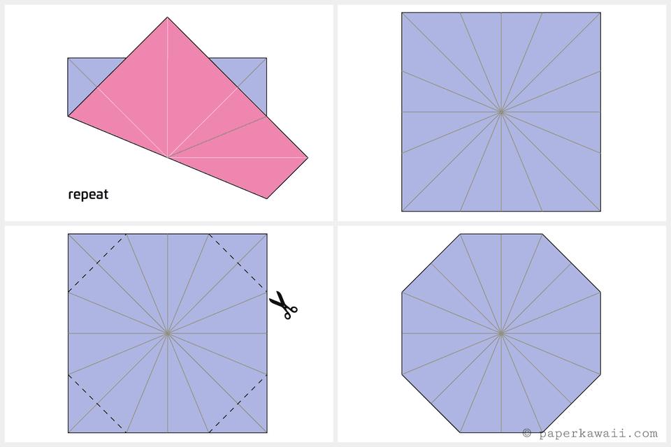 Origami Octagonal Tato Diagram 3