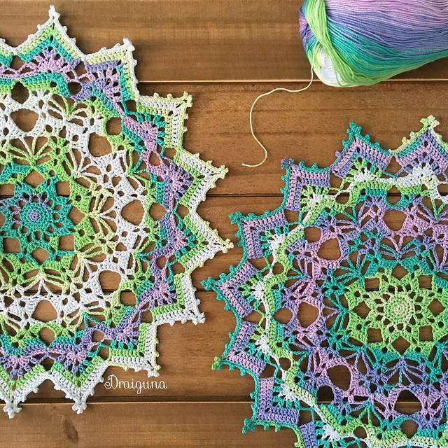 pastel crochet doily