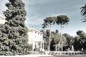 Mansion With Formal Garden