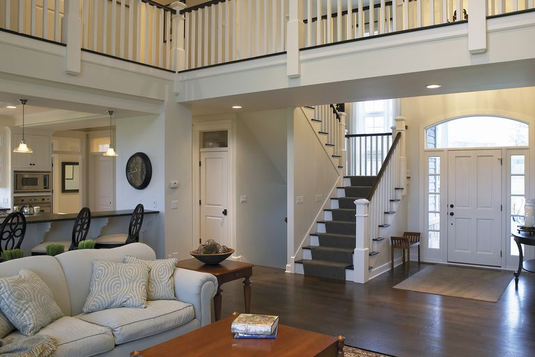 Living Room, Entryway, and Banisters