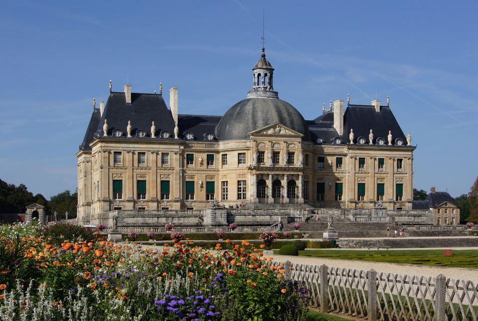 The 17th Century Chateau Vaux Le Vicompte Outside Paris