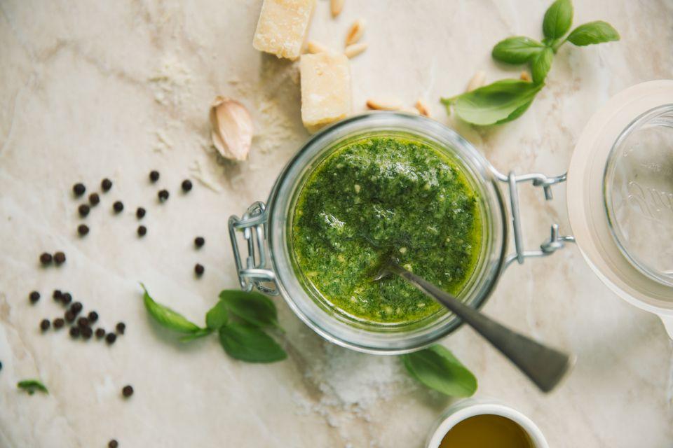 preserve basil and pesto
