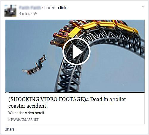 Shocking Video Footage - 4 Dead in Roller Coaster Accident