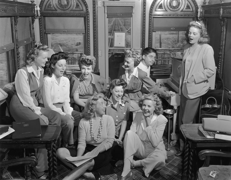 Starlets in the Hollywood Victory Caravan, USO Tour, 1942