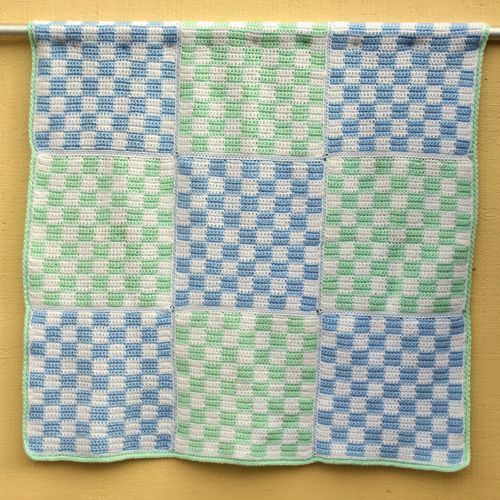 Boy's Gingham Baby Blanket