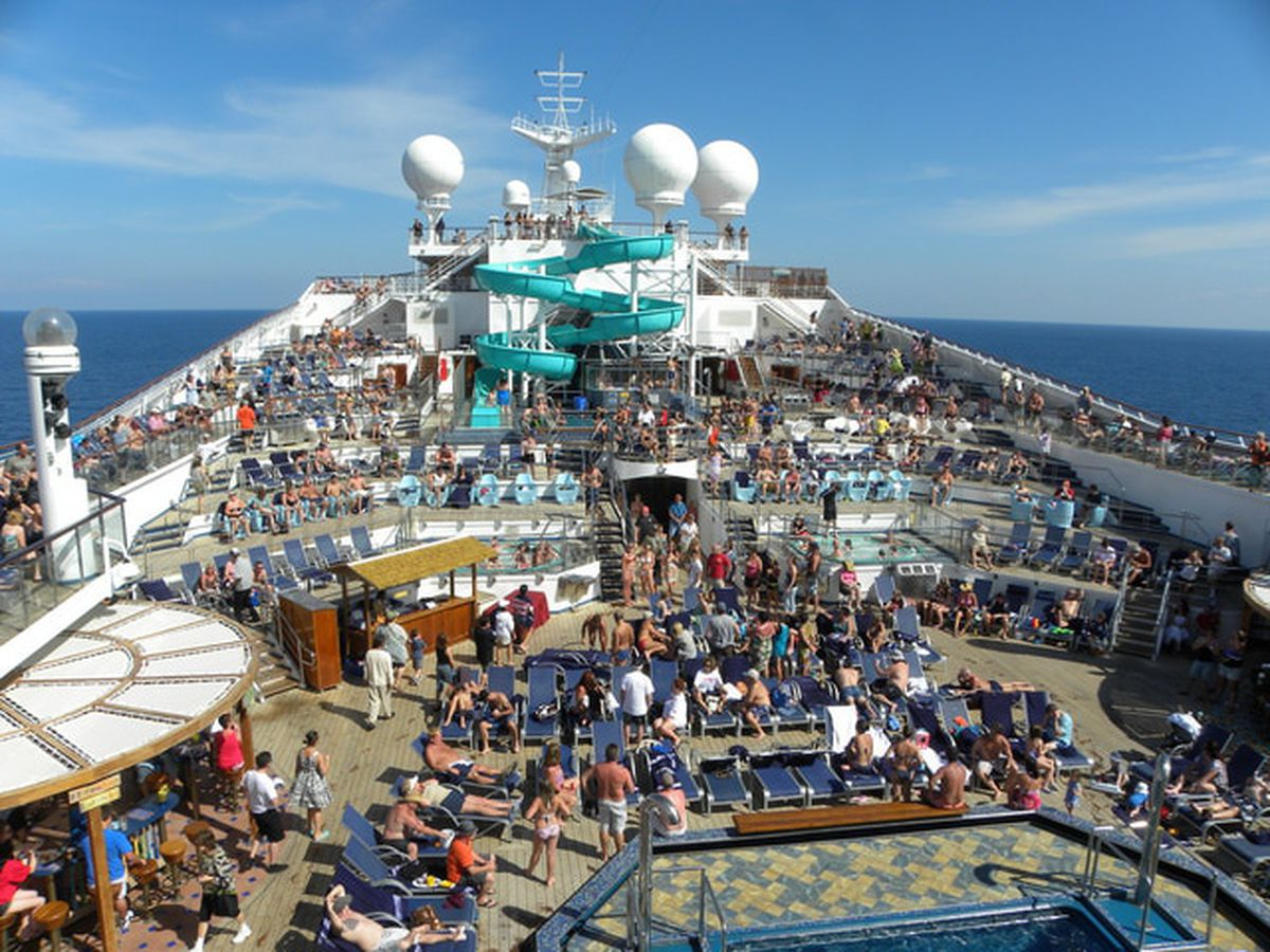 Carnival Liberty Outdoor Deck Areas And Exteriors