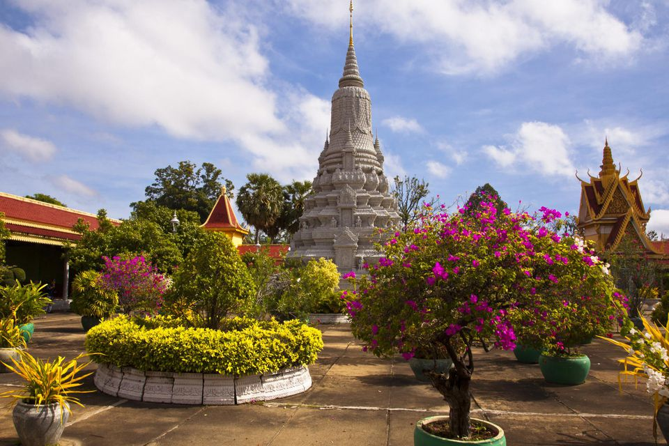 Courtyard of the Silver Pagoda in Phnom