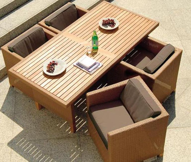 Cinco ideas para amueblar terrazas peque as for Muebles para terraza pequena