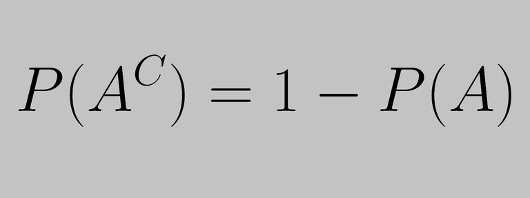 The complement rule expresses the probability of the complement of an event.