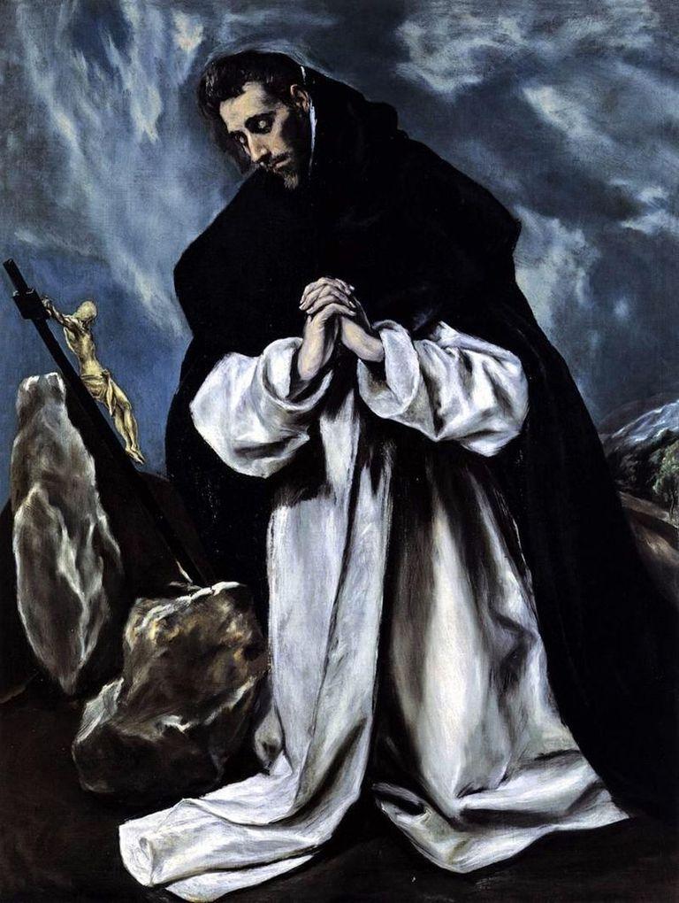 Santo Domingo en oración por El Greco