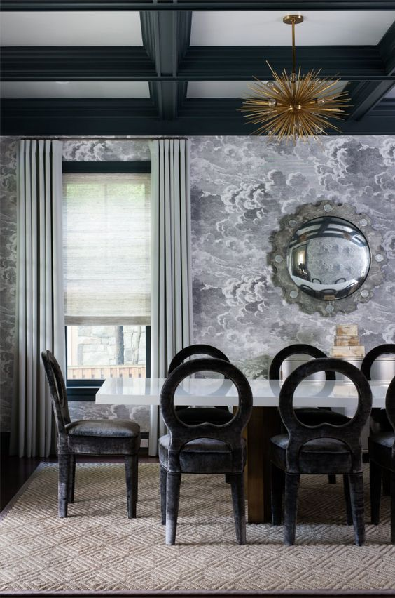 Wallpaper For Rooms Magnificent 25 Amazing Dining Rooms With Wallpaper