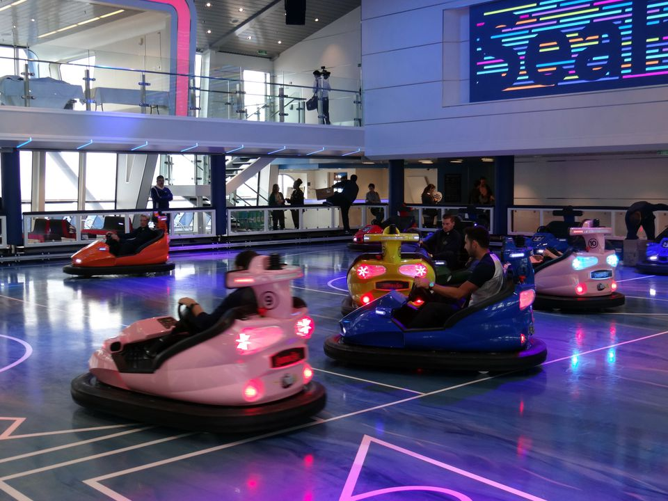Bumper cars on the Quantum of the Seas