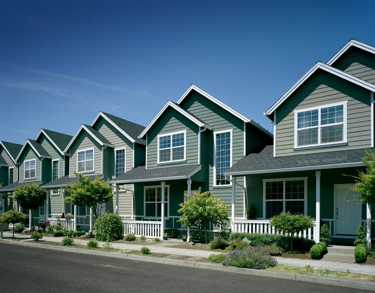 Row of identical homes