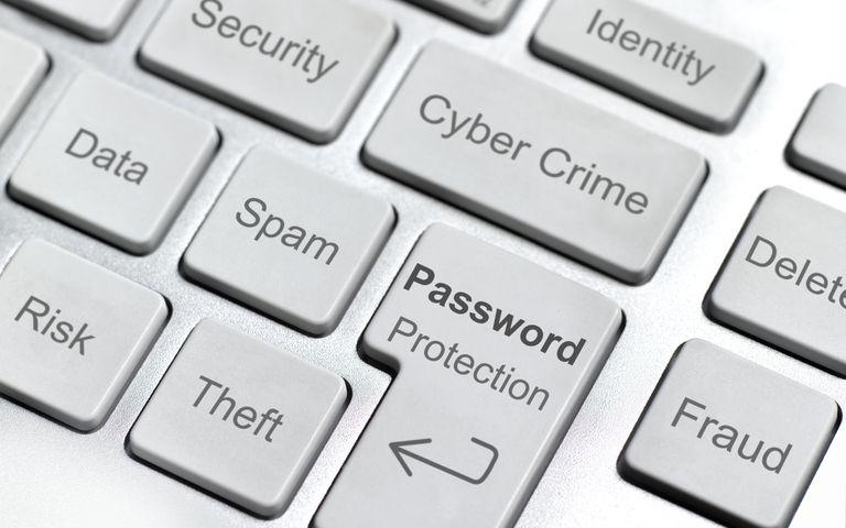 Cyber crime computer keyboard