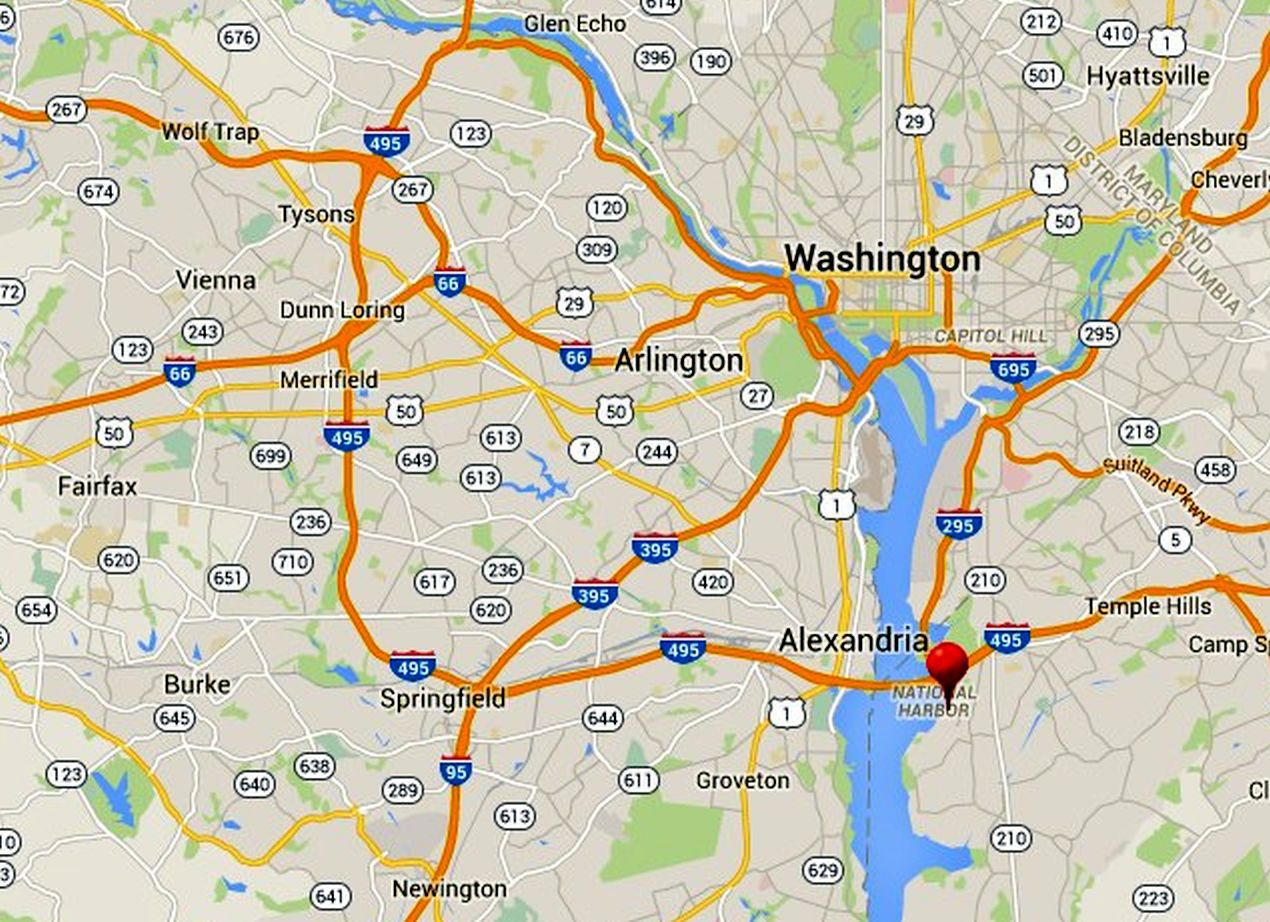 capital beltway map i interstate exit guide - national harbor map