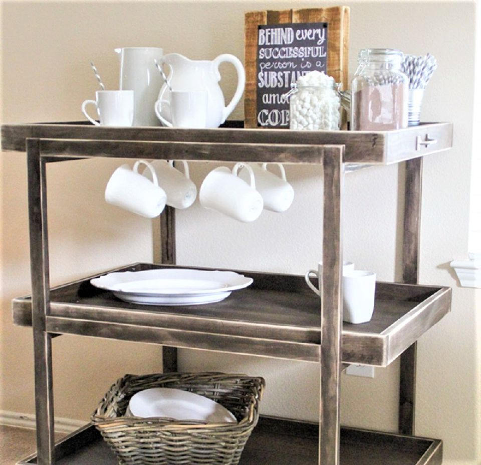 Do It Yourself From-Scratch Bar Cart