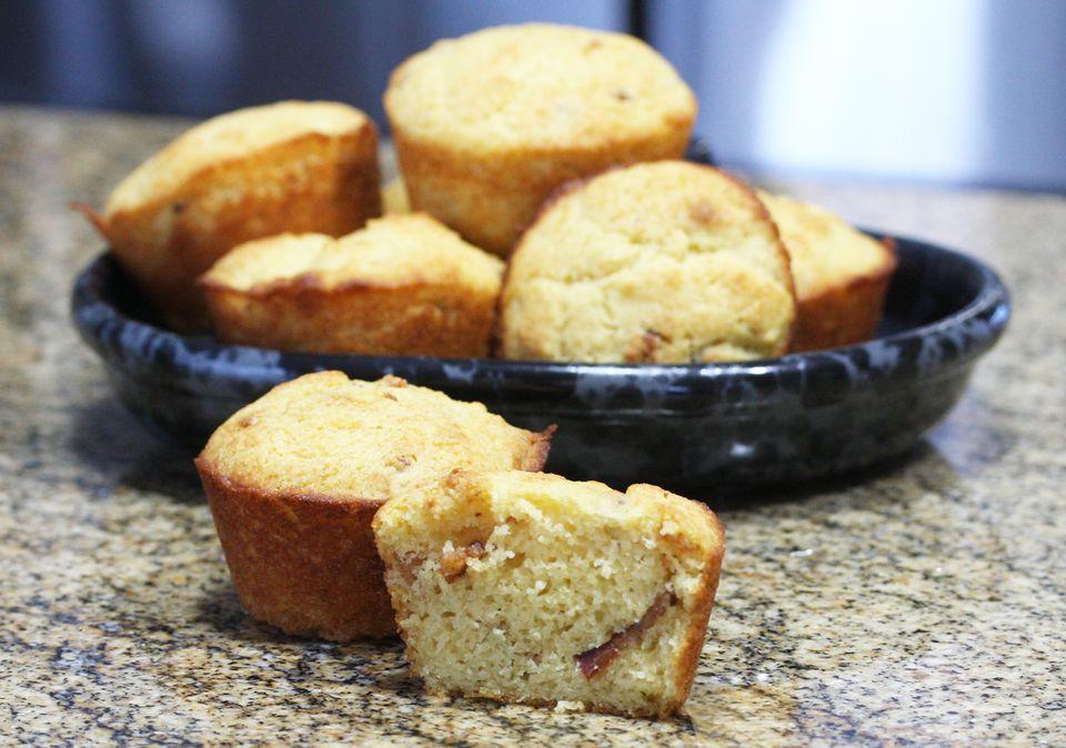 maple bacon cornbread muffins