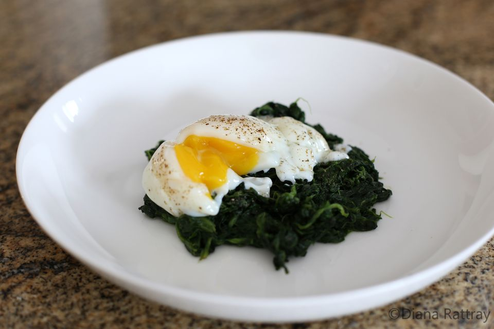 Poached Egg Florentine on Spinach (No Sauce)