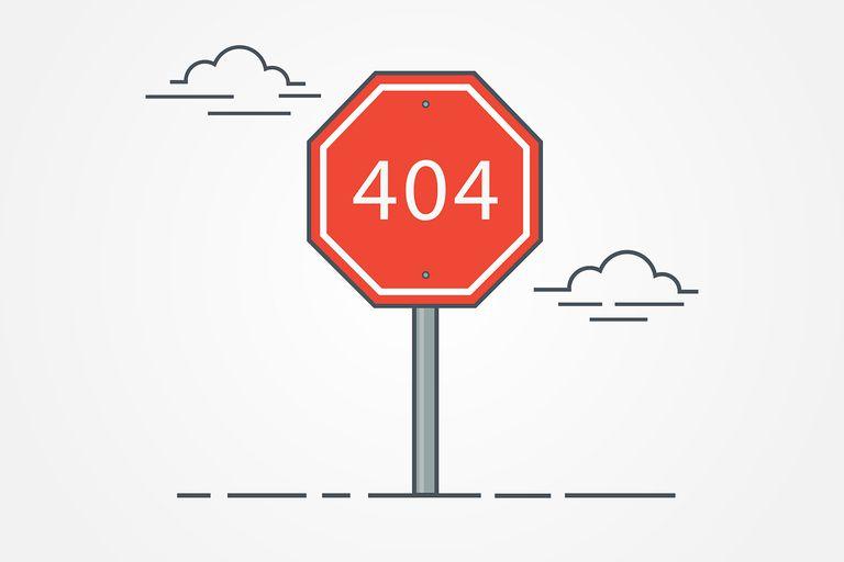 Icon for 404 error page