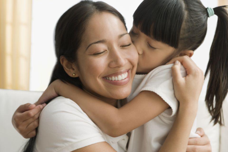 Girl thanking her mom