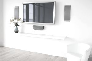 Plasma television in a room