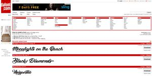 Screenshot of the dafont.com website