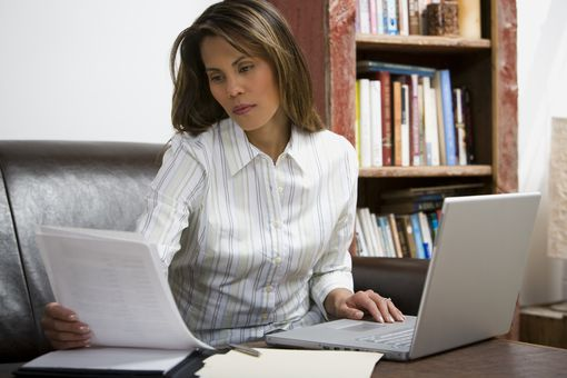 Woman Word Processing
