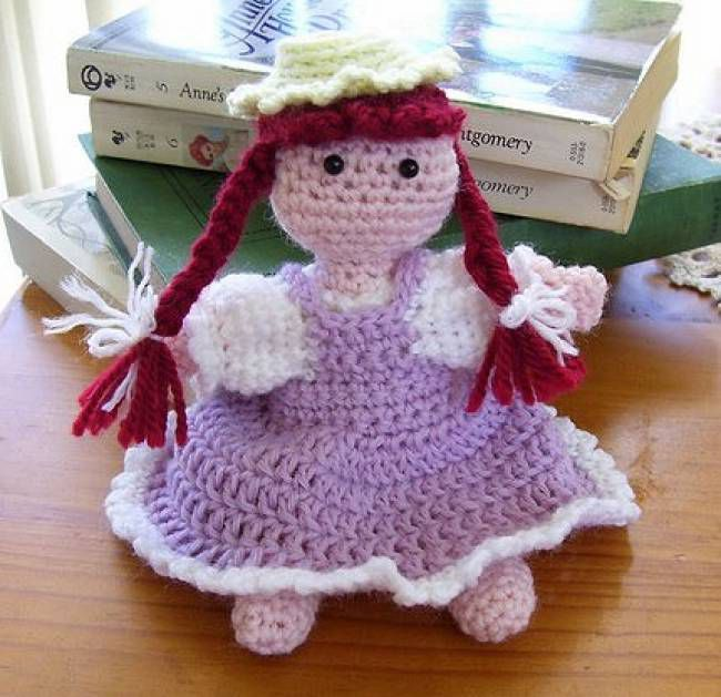 Crochet Doll with Braids