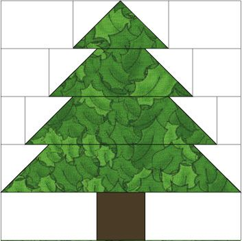 Christmas Tree Quilt Block Pattern