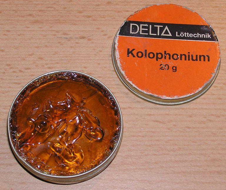 Rosin for soldering