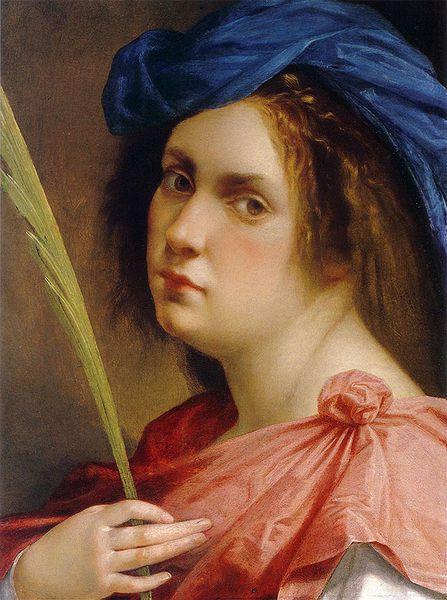 Autorretrato de Artemisia Gentileschi