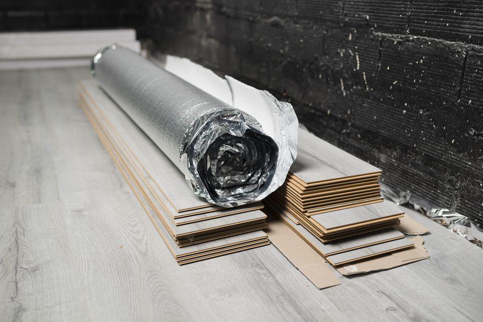 Laminate Flooring Prior to Installation