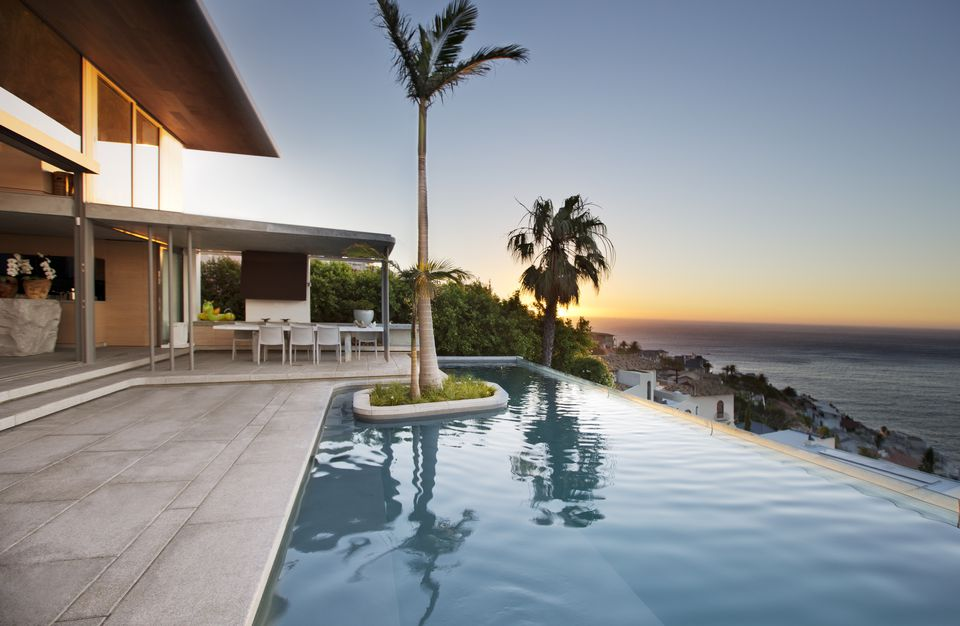 Rectangular pool designs and shapes for Infinity pool design