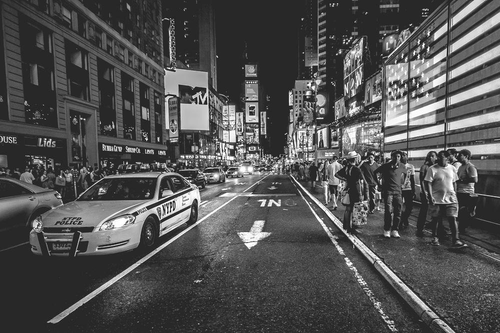 Police car in Times Square