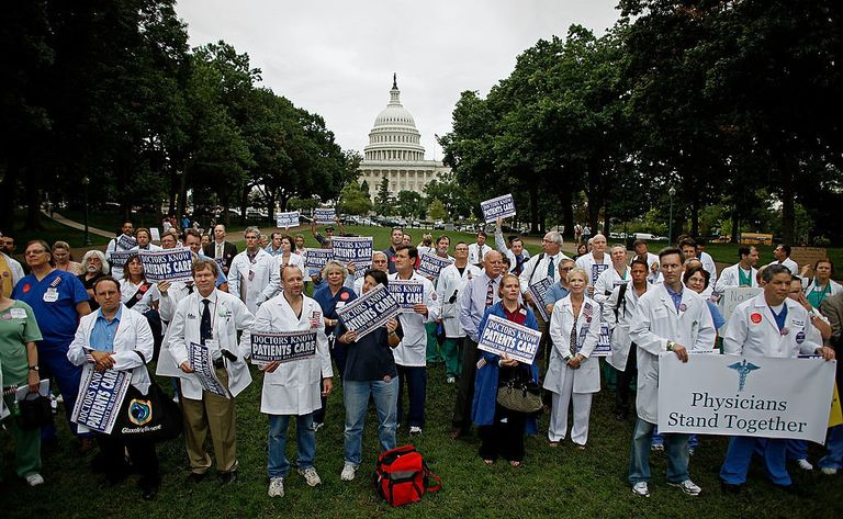 Doctors gathering at the US Capitol