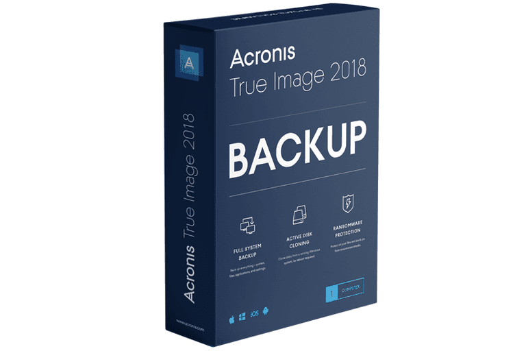 Picture of the Acronis True Image 2017 box